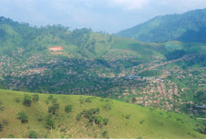 Mountainous area where schools for Karen kids situated