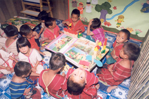 School children in an Omkoi community learning centre